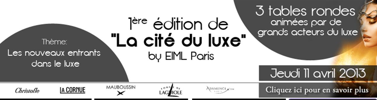 L'EIML présente la 1ère édition de la Cité du Luxe