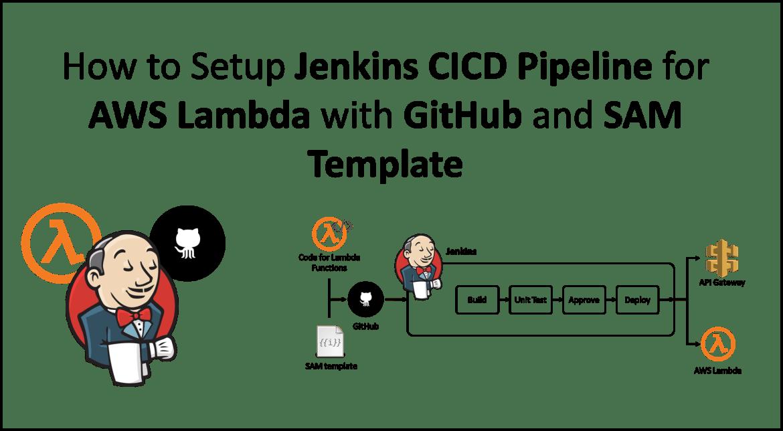 Jenkins CICD Pipeline - AWS Lambda, Github - SAM Template