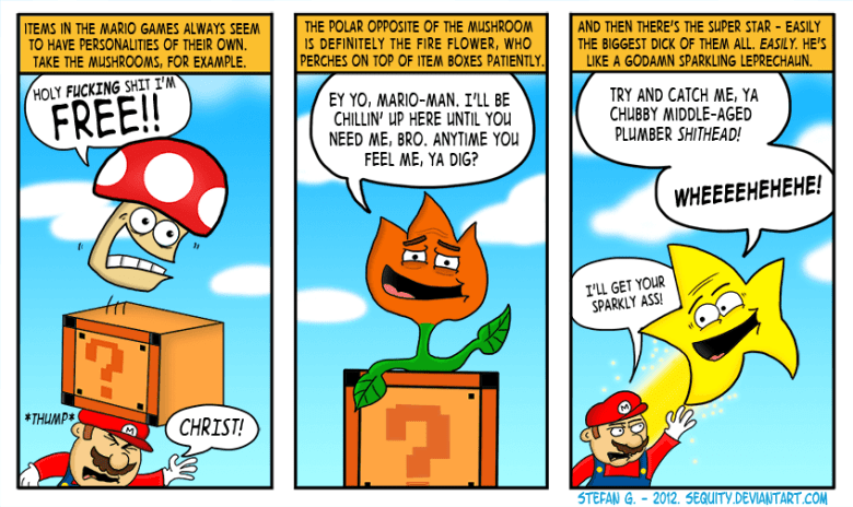 I made a comic about Mario
