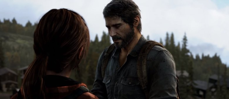 Joel talks to Ellie in The Last of Us