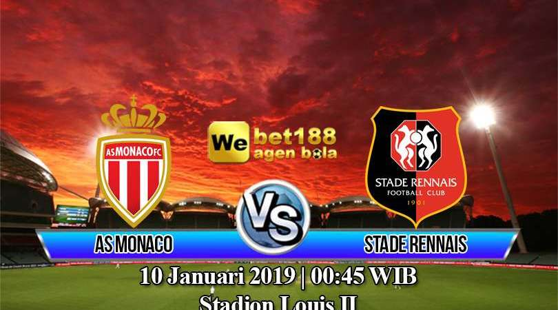 Prediksi Bola AS Monaco vs Stade Rennais 10 Januari 2019