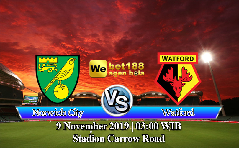 Prediksi Bola Norwich City vs Watford 9 November 2019