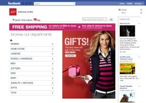 JC Penney Facebook splash page