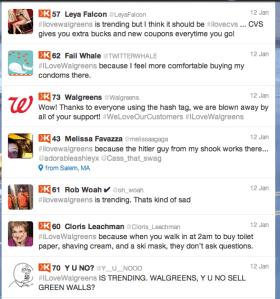 Twitter users poke fun at Walgreens hashtag
