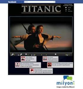 Titanic movie on Facebook