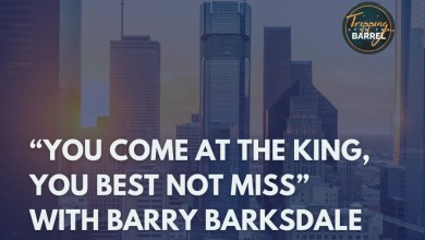 "Photo of ""You Come at the King, You Best Not Miss"" with Barry Barksdale on Tripping Over the Barrel"