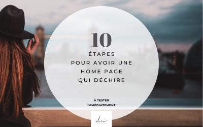 10 étapes pour avoir une home page qui déchire