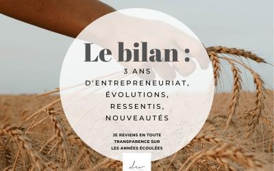 3 ans d'entrepreneuriat : mon bilan