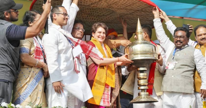 Watch Live: Priyanka Gandhi addresses a public rally in Jorhat, Assam