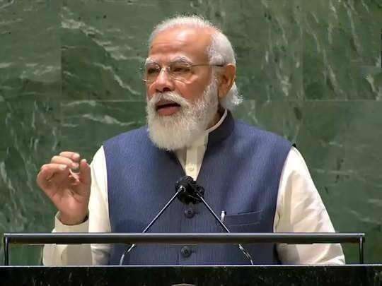 22 मिनट की स्पीच में पीएम मोदी ने विकास के साथ प्रगतिवादी सोच का किया आह्वान #UNGA#NarendraModi