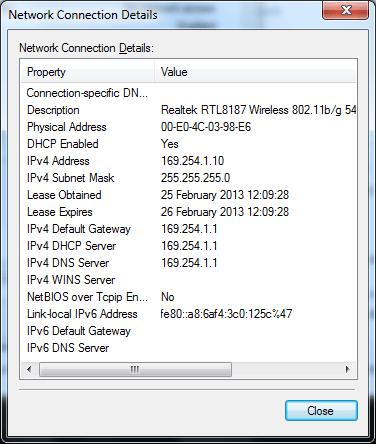Windows AP Mode status