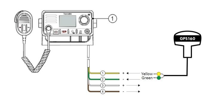 GPS antenna for Raymarine VHF Ray 50, Ray 52, Ray 60 & Ray 70 VHF Radio