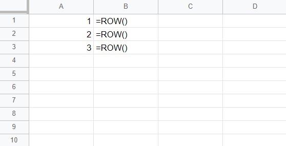 ROW函數