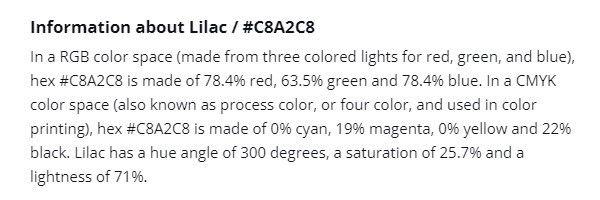 顏色的資訊