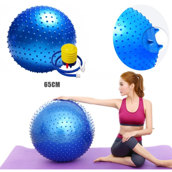 65CM Thickened Yoga Ball Environmental Protection Explosion proof Fitness Ball Thorn Massage Ball with Air Pump