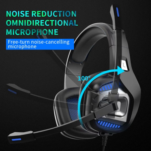Professional Gamer Headset Led Light 3D Wired Headphone For PS4 PS5 Fifa 21 Xbox Laptop PC 5