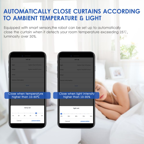 WiFi Automatic Curtain Opener Closer Robot Wireless Smart Curtain Motor Timer Voice Control Smart Home Automation 5