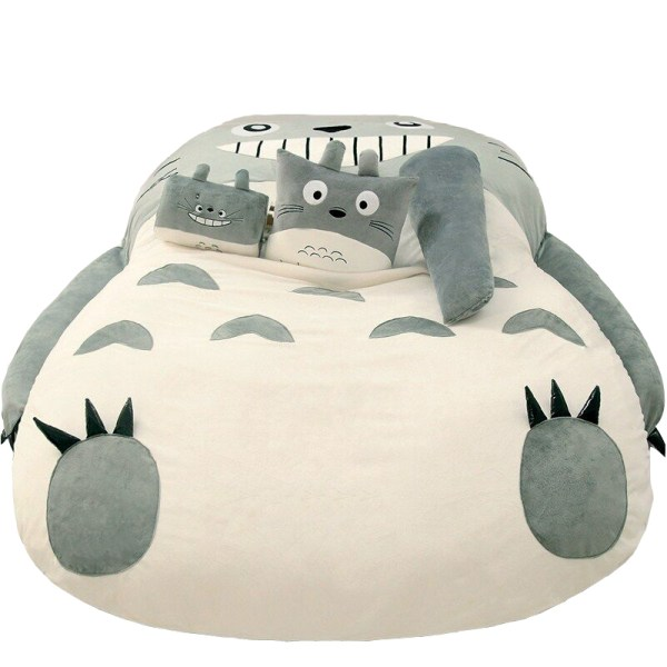 Totoro Lazy Bed Couch Tatami Mattress Chinchillas Lengthened Thickened Bed Cartoon Balcony Sofa Bedroom lounge bed 5