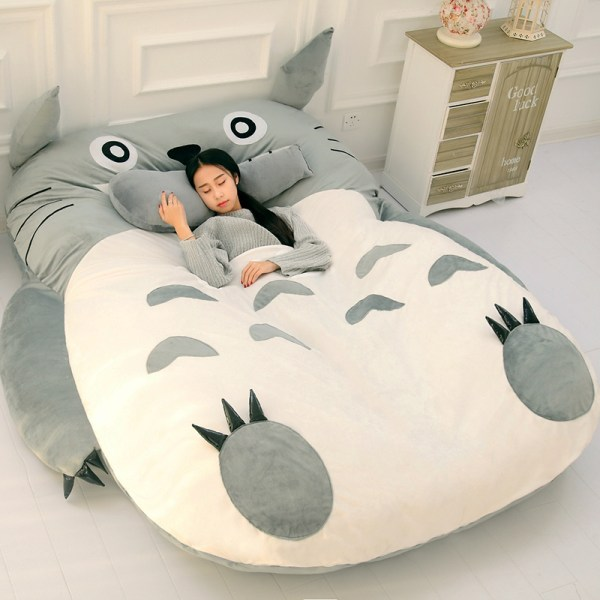 Totoro Lazy Bed Couch Tatami Mattress Chinchillas Lengthened Thickened Bed Cartoon Balcony Sofa Bedroom lounge bed
