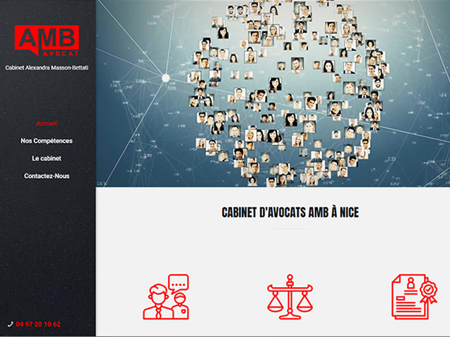création site internet AMB Avocats Nice.fw