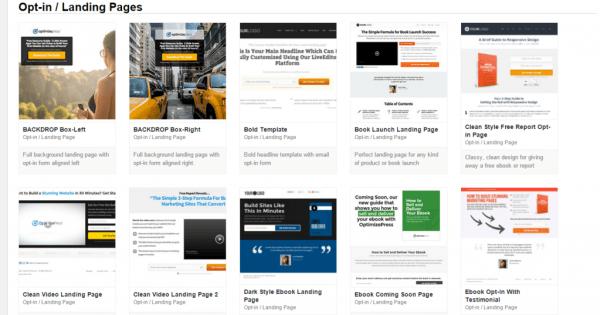 OptimizePress screenshot2