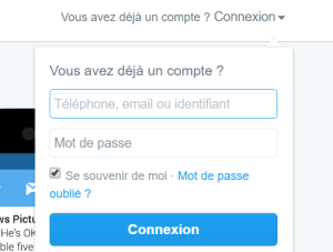 Connection Twitter