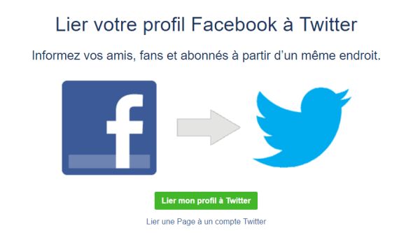 Connection Twitter sur Facebook