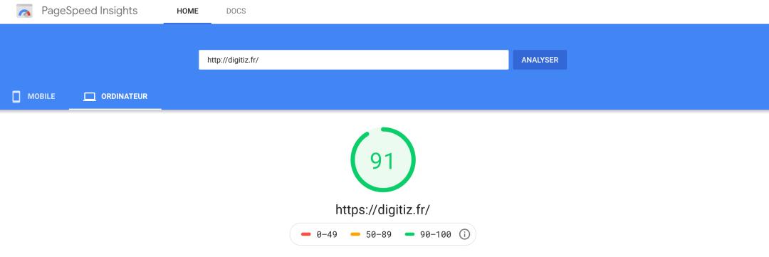 Google SpeedPage Insights