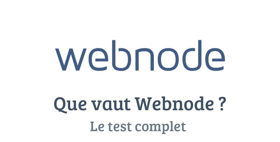 Webnode : Test complet et avis