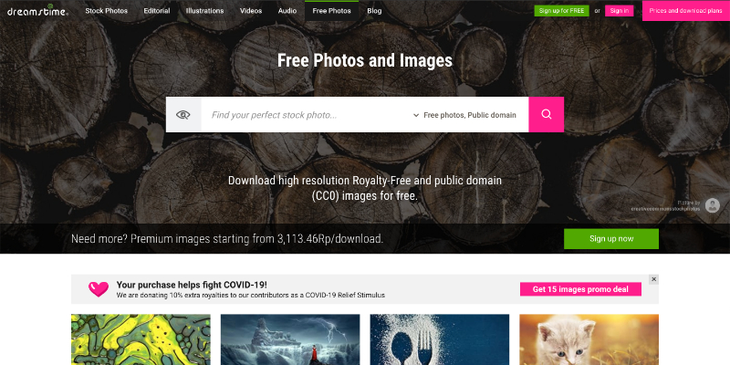14. Dreamstime Free Collection