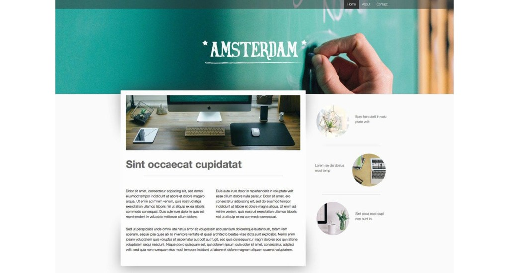 Amsterdam exemple site Jimdo