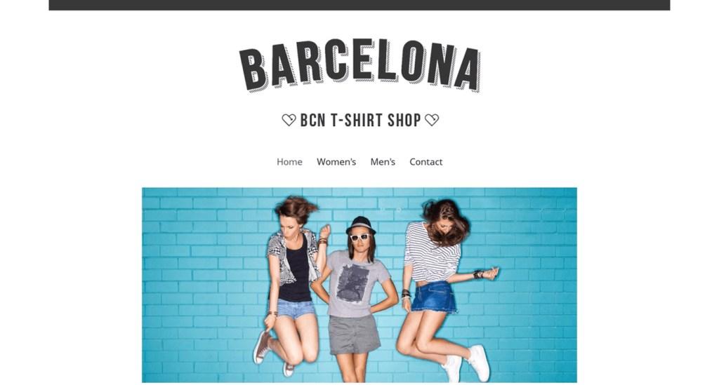 Barcelona exemple site Jimdo