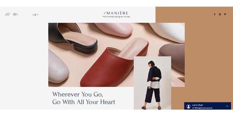 Exemple de boutique de chaussures