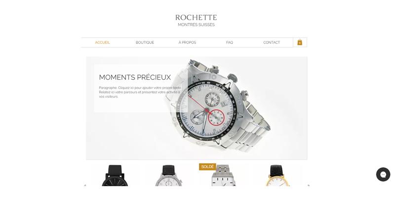 Exemple de boutique de montres
