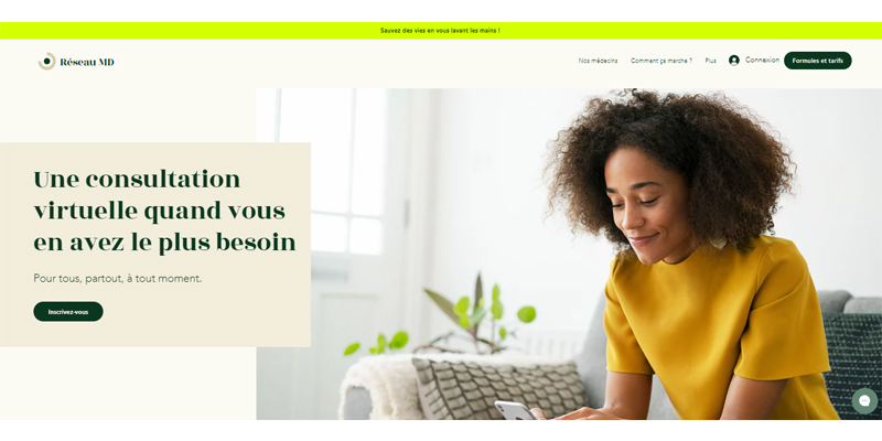 Exemple de site de consultation en ligne