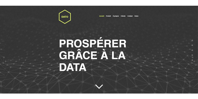 Exemple de site pour startup