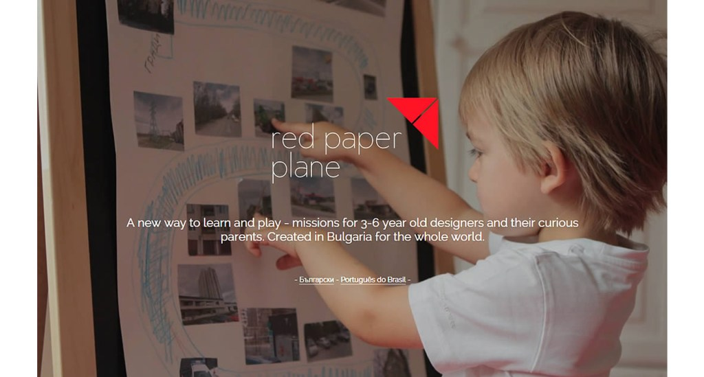 Red Paper Plane exemple site Strikingly