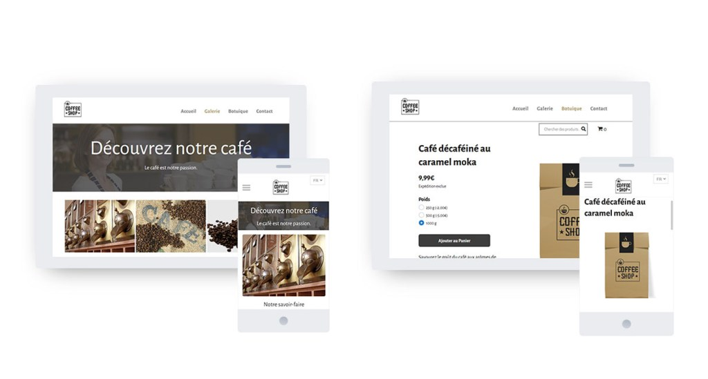 cafe exemple site Ionos