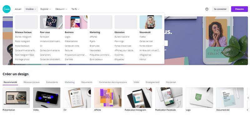 Creer un design avec Canva Pro
