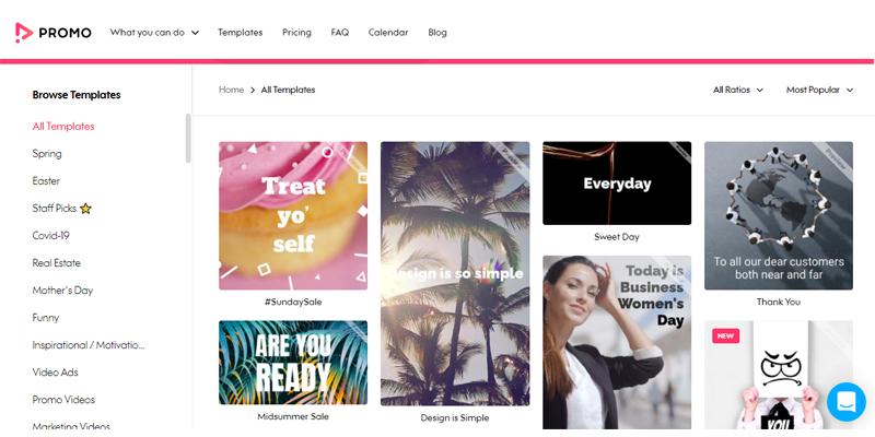 Promo-com templates