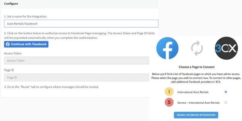 3CX Live Chat - Messagerie Facebook
