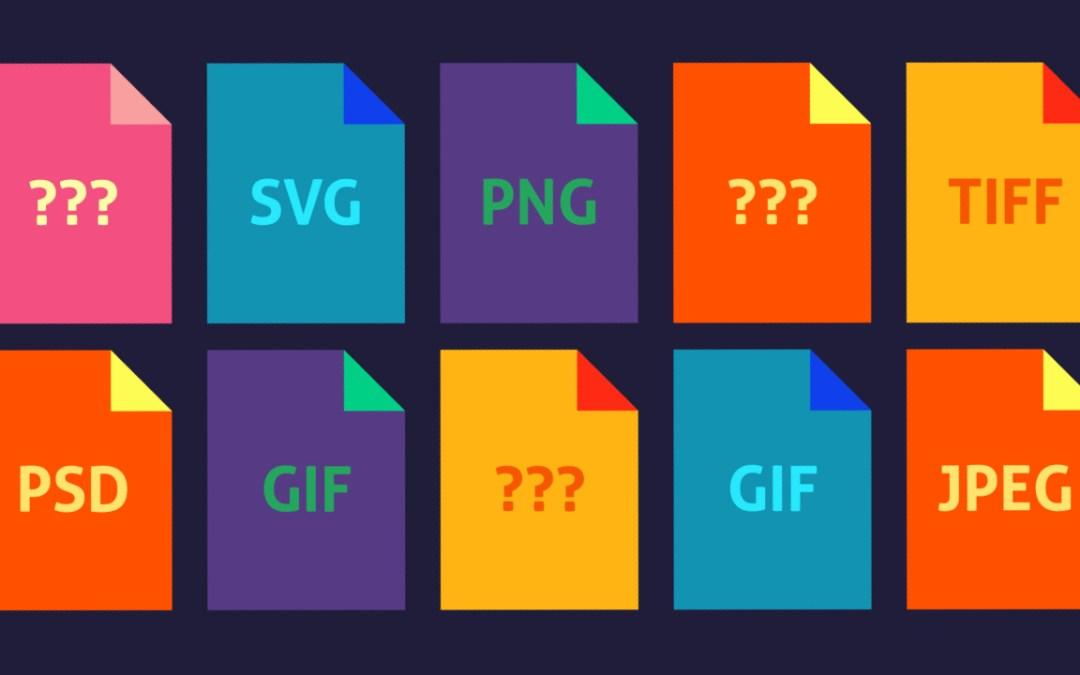 Formats image sur le web