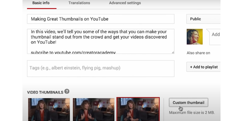SEO Youtube - Thumbnail