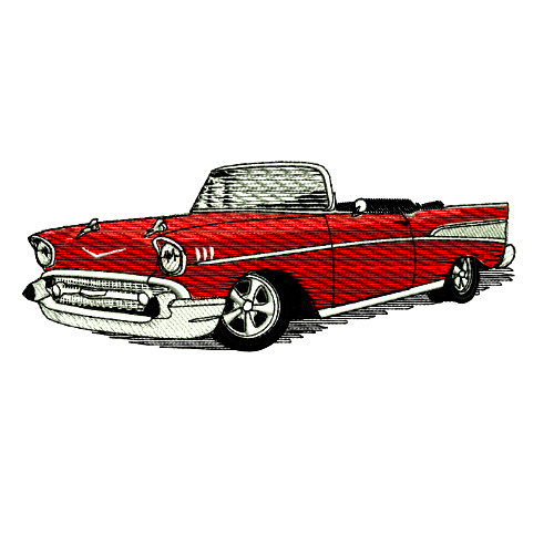1957 Chevrolet Bel Air Convertable Embroidery Design