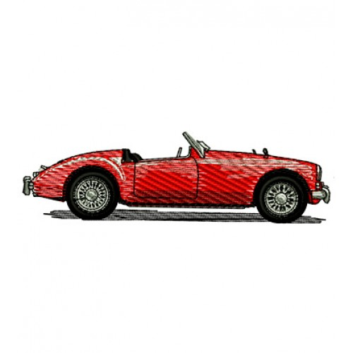 1959 MG Roadster Embroidery Design