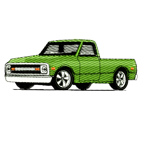 1970 Chevrolet Pickup Truck Embroidery Design
