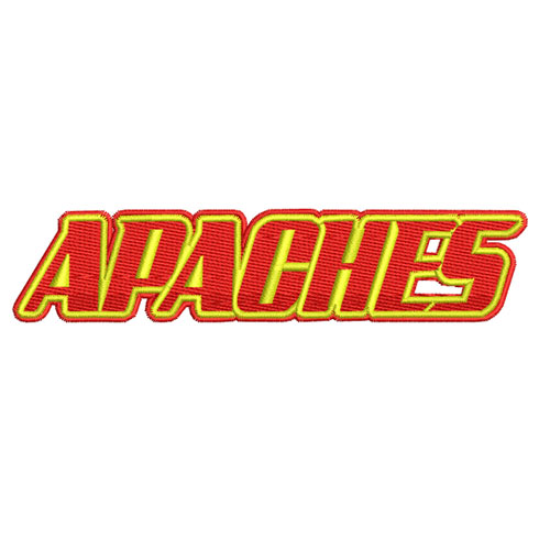 Apaches Athletics Sports Team Embroidery Design