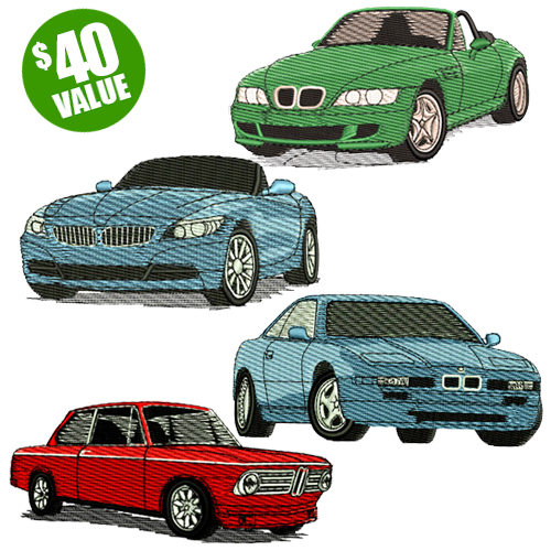 BMW Embroidery Design Discount Value Pack