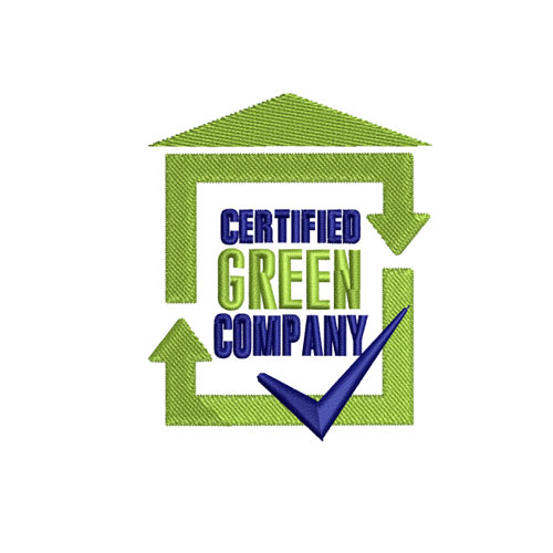 Certified Green Company Embroidery Design