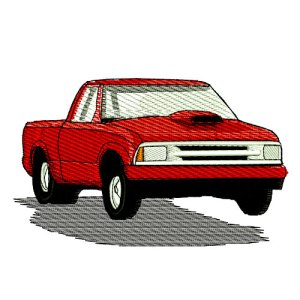 Chevy S10 Drag Racing Pickup Truck Embroidery Design